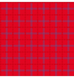 Bright red seamless mesh pattern vector