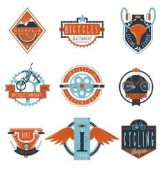 Cycling club labels emblems set vector