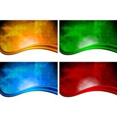 Vibrant backdrops vector