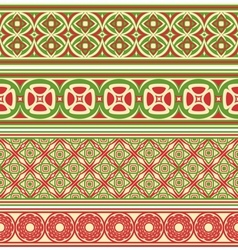 Decorative seamless borders vector