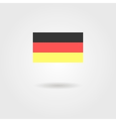 Germany flag with shadow vector