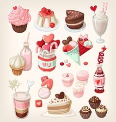 Valentine food vector
