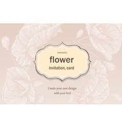 Invitation greeting card in pastel colors with vector