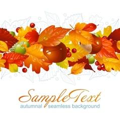 Autumnal seamless horizontal background vector