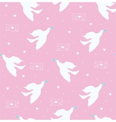 Dove and letter pink vector