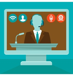 Online conference vector
