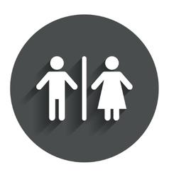 Wc sign icon toilet symbol vector