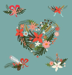 Festive floral compositions vector