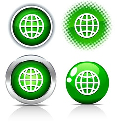 Earth buttons vector