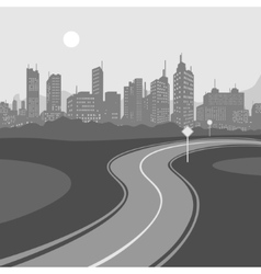 Road and city background vector