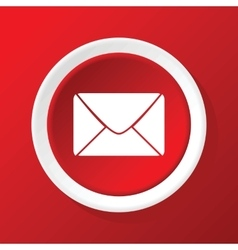 Letter icon on red vector