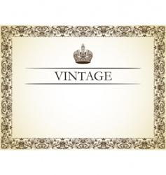 Vintage frame decor vector