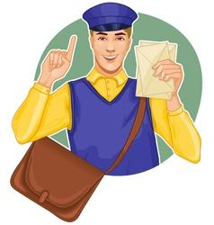 Young postman vector
