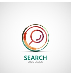 Search company logo business concept vector