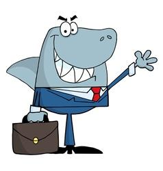 Smiled business shark vector