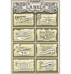 Set of vintage clothing labels vector
