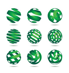 Sphere design elements vector
