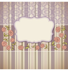 Vintage backgroundgreeting card or invitation vector
