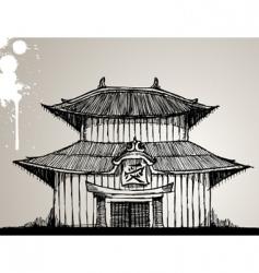 Pagoda illustration vector