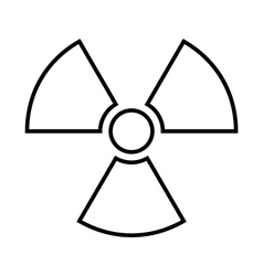 Radiation sign icon vector
