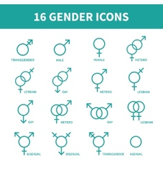 Sexual orientation gender web iconssymbolsign in vector