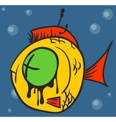Dead fish graffiti vector