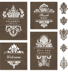 Victorian styled templates vector