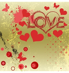 Grungy style love concept vector