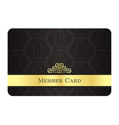 Luxury golden member card with classic vintage vector