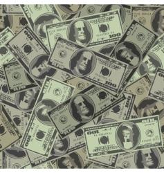 Dollars background vector