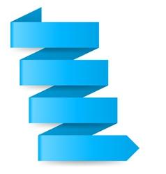 Blue paper arrow vector