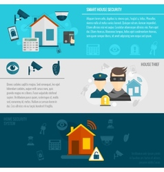 Home security banner set vector
