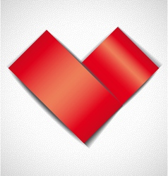 Greeting card with heart vector