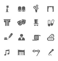 Set of theatre icons vector