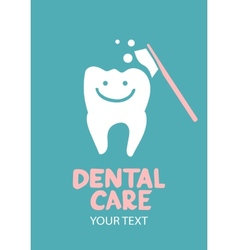 Dental care design concept vector