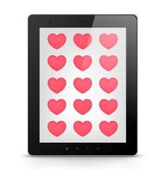 Digital tablet concept vector