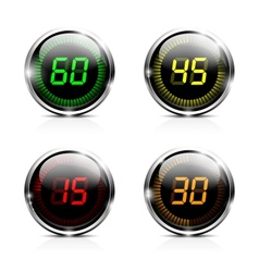Electronic brilliant countdown timers vector