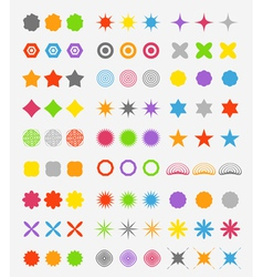 Abstract primitive color figures collection vector
