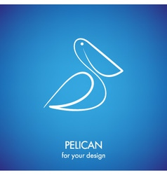 Pelican icon vector