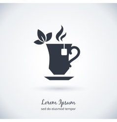 Tea cup logo vector