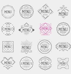 Restaurant menu logo vintage label retro design vector