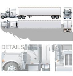 Semi-truck vector