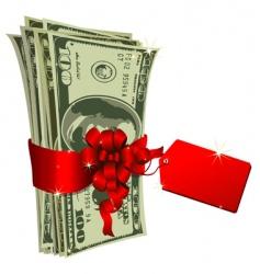 Dollar gift vector