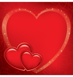 Red romantic card for valentines day vector