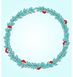 Decorative round floral frame vector