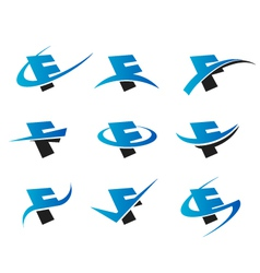 Alphabet f logo icons vector