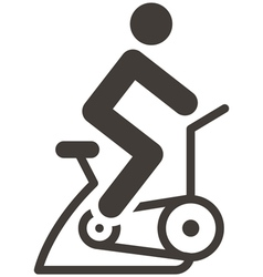 Indoor cycling icon vector