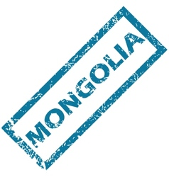 Mongolia rubber stamp vector