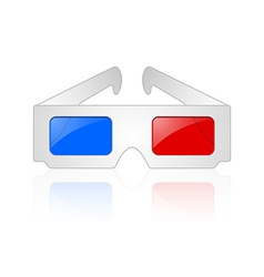 Anaglyphic 3d glasses vector