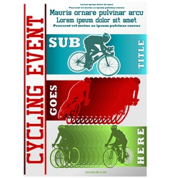 Sport event poster cycling vector